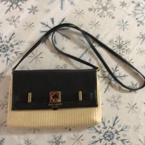 Kate Spade ♠️ straw crossbody bag